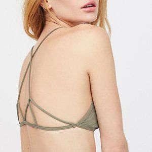 New FREE PEOPLE prism grey strappy back bra